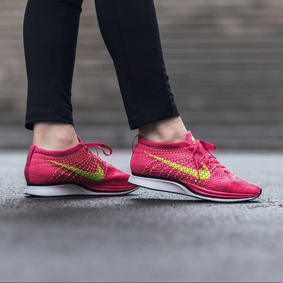 "f2ccd73adad2 Nike Flyknit Racer ""Fireberry"". M 5a7a91de05f430f83fc3f2ce"